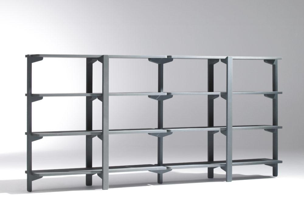 Étagère / gris / long meuble de rangement / Designer Jérôme Gauthier / Éditeur Soca