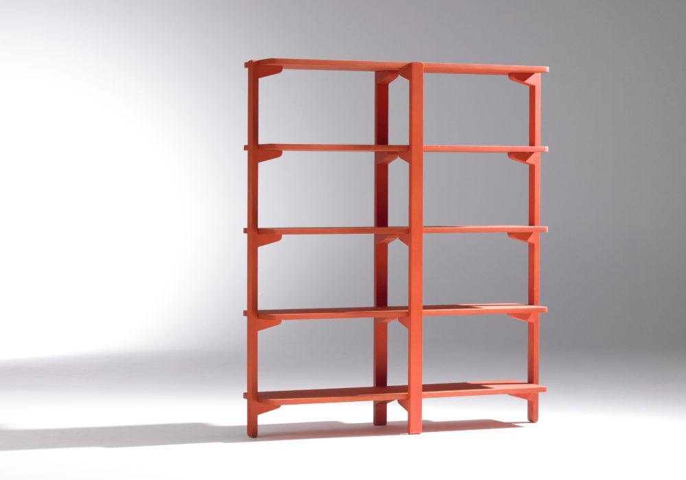 Étagère / Bibliothèque / rouge / meuble de rangement / Designer Jérôme Gauthier / Éditeur Soca