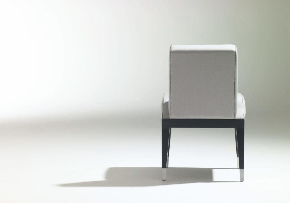chaise design tissu gris soca George Karam