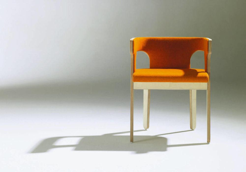 Bridge Frizz / design bois orange garni / Design Thierry D'Istria / Editeur SOCA