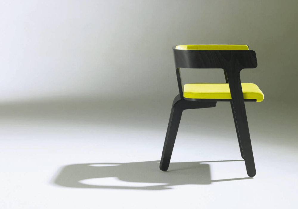Bridge Frizz / design bois noir vert garni / Design Thierry D'Istria / Editeur SOCA