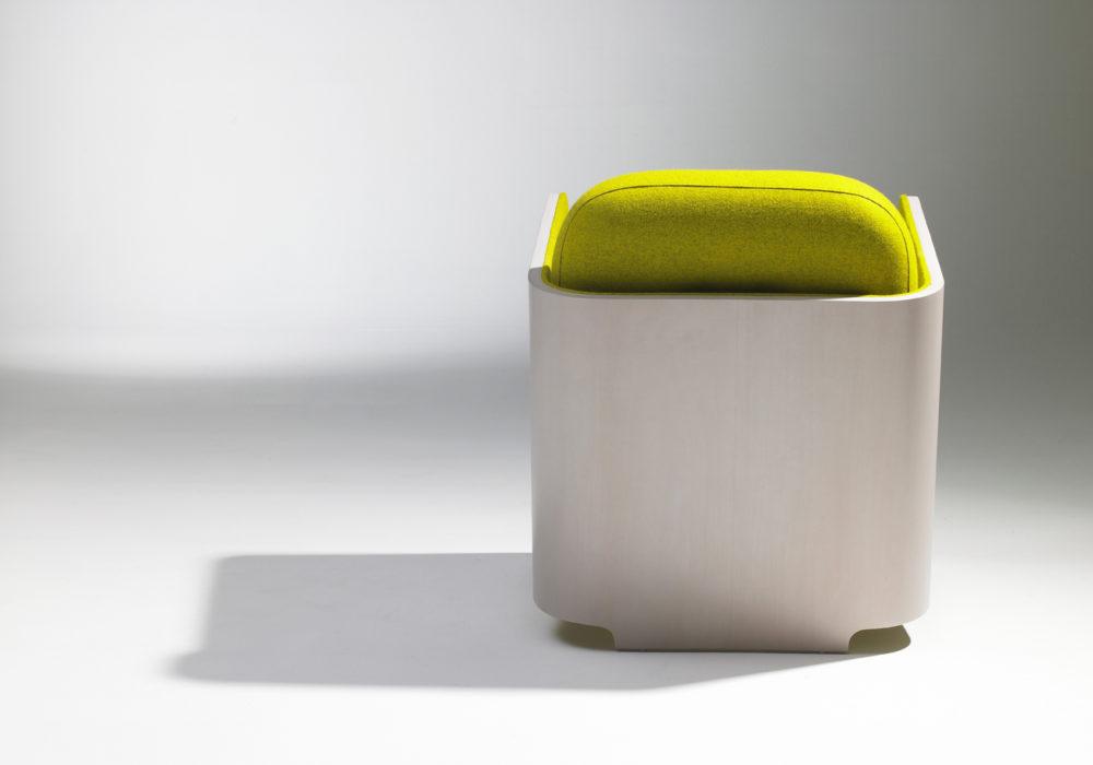 fauteuil design bois vert anis frizz soca