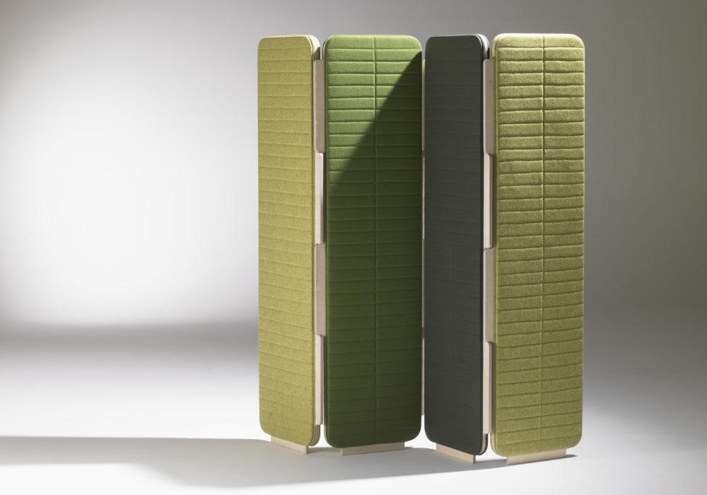 paravent design vert tissu frizz / Design Thierry D'Istria / Editeur SOCA