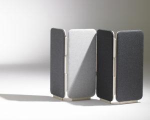 paravent design gris tissu frizz soca