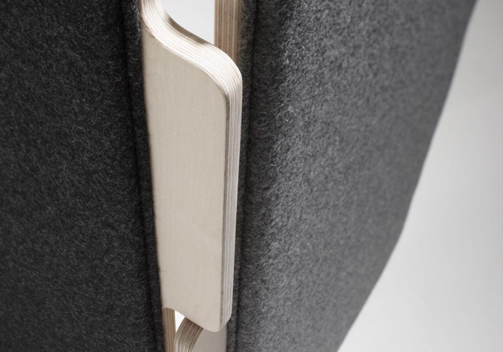 paravent design tissu gris frizz / Design Thierry D'Istria / Editeur SOCA