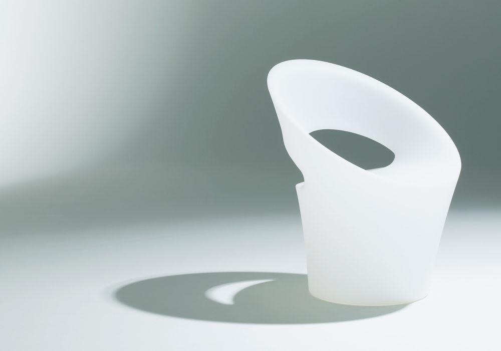 Fauteuil Tid'jou ! design blanc en plastique Bruno Houssin Soca