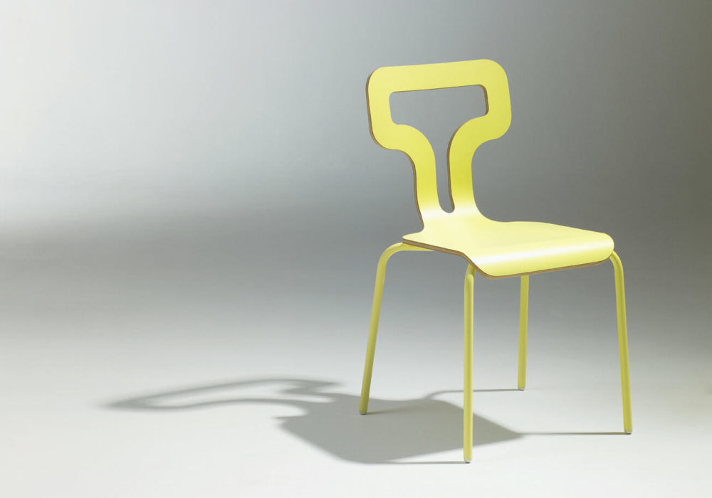 Chaise design restaurant jaune Soca Thierry D'Istria