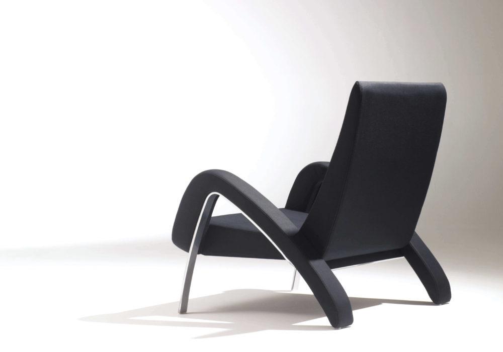 fauteuil design noir Soca