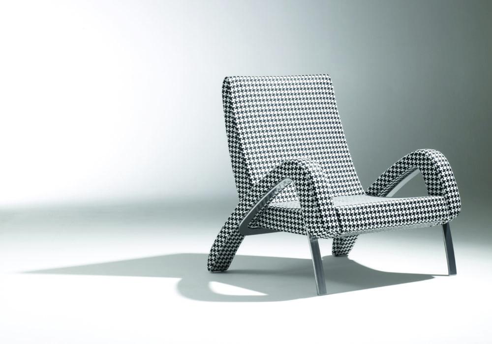 fauteuil design pied de poule Soca