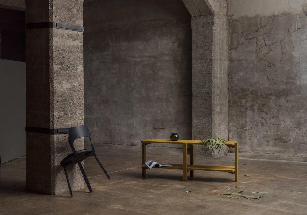 Étagère / Rangement bas / vert / meuble de rangement bas / Designer Jérôme Gauthier / Éditeur Soca / Décor industriel