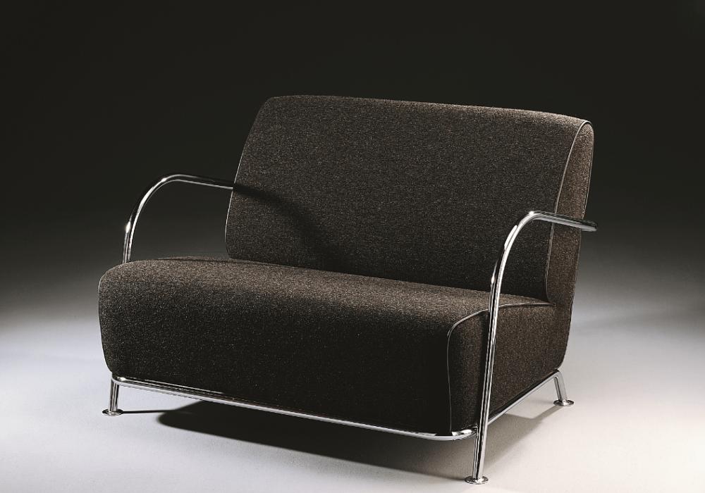 fauteuil design noir argent art déco Soca Thibault Desombre