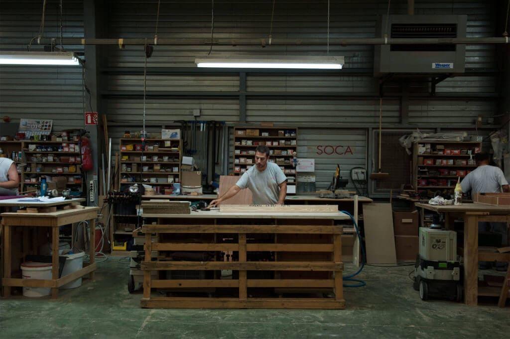 menuisier atelier bois Soca